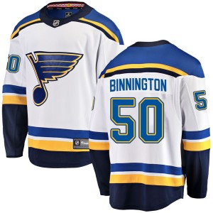Jordan Binnington Youth Fanatics Branded St. Louis Blues Breakaway White Away Jersey